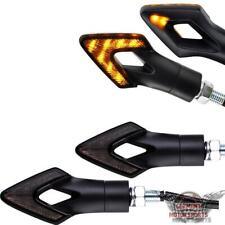 Motorrad LED Mini Blinker schwarz getönt 2 Paar Blinkerset E-geprüft Roller Quad