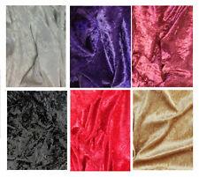 Premium  CRUSHED VELVET Stretch Velour Fabric 150cm wide