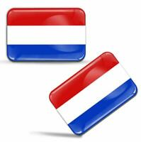 Autocollant 3D Gel Drapeau Pays-Bas Néerlandais Hollande Flag Hollandais Sticker