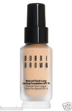 NIB BOBBI BROWN NATURAL FINISH LONG LASTING FOUNDATION SPF15,  WARM SAND #2.5