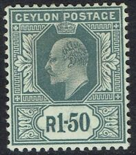 CEYLON 1903 KEVII 1R50 WMK CROWN CA