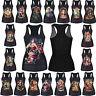 New Womens Girls Print Sleeveless Vest Tank Tops Gothic Punk Cami T-Shirt Blouse