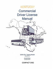 COMMERCIAL DRIVER'S MANUAL FOR CDL TRAINING (KENTUCKY) ON CD IN PDF PROGRAM.