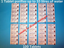 100 x Aquatabs® 67mg Water Purification Tablets. 1 Tablet per 8-10 Litres Water
