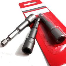 """6 PACK of TEK SCREW MAGNETIC DRIVE DRILL BIT HOLDER - 5/16"""" (8mm) - 1/4"""" SHANK"""