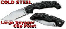Cold Steel 2011 Voyager Large Clip Point Half Serrated Folding Knife 29TLCH