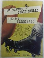 1952 San Francisco 49'ers vs. Chicago Cardinals Game Program , Ex Condition