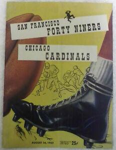 1952 San Francisco 49'ers vs. Chicago Cardinals Game Program , Ex Condition!
