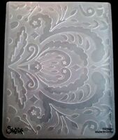 Sizzix Large Embossing Folder FLOWERS ROYAL SWIRLS fits Cuttlebug 4.5x5.75in