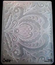 Sizzix grande carpeta de grabación en relieve flores Royal remolinos se ajusta Cuttlebug 4.5x5.75in
