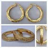 Moderne Ohrringe ARPAS 14 K Creolen 585er Gold Goldschmuck Ohrschmuck
