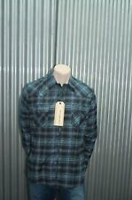 191 Unlimited Black & Turquoise Plaid Button-Up NWT L