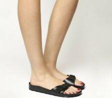 Sandales et chaussures de plage noirs Birkenstock pour femme
