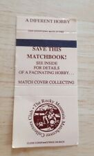 Vintage Matchbook The Rocky Mountain Matchcover Collectors Club Different Hobby