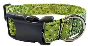 Lime Green Bandana Dog Collar cowboy country western puppy St Patricks day light