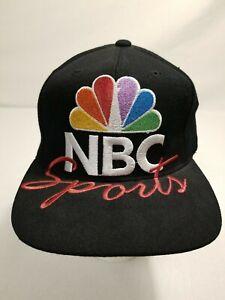 Vintage NBC Sports 90s Pro Player Snapback Baseball Hat Cap Embroidered Logo