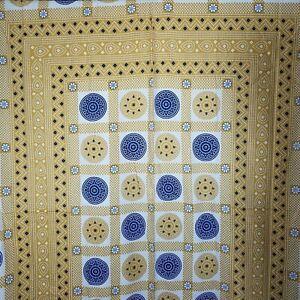 Nwt Henna Estampado 100% Algodón Tapiz Serigrafía Manta Réplica Oro Azul India