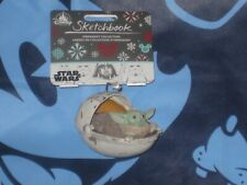 Disney Star Wars Mandalorian The Child Baby Yoda Sketchbook Ornament 2020 New