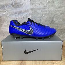7d5806aeecc Nike Tiempo Legend 7 Elite FG Size 9 Soccer Cleats Mens Racer Blue Black