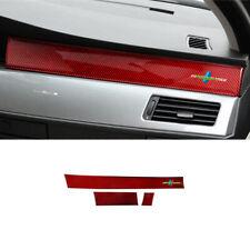For BMW 5 Series E60 2005-2010 Red carbon Car dashboard L&R air outlet vent trim