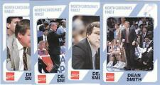 Lot of 4 DEAN SMITH 1989 cards UNC North Carolina Tar Heels Basketball NR MT