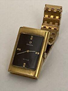 Omega De Ville Manual Winding Black & Gold Dial Watch Circa 1960-1980 - Working