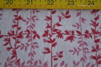 "44"" Long x 36"" Wide Vintage Feedsack Cotton, Red on White, N1203"