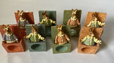 New listing Set of 8 Rabbit Easter Napkin Rings Acrylic Bouncing Easter Bunny Napkin Rings