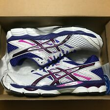 Wmns Asics Gel Cumulus 16 Sz 11.5 White Black Hot Pink T489N 0190