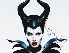 ANGELINA JOLIE SIGNED 8X10 COLOR PHOTO DISNEY'S MALEFICENT AUTOGRAPH
