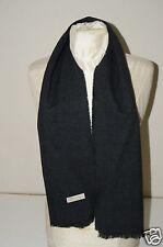 "Classy Vintage Dark Gray Charcole 54"" x 12"" 100% Cashmere Scarf Wrap England HTF"