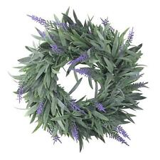 "Northlight 10"" Artificial Dusty Purple Springtime Wispy Lavender Wreath"