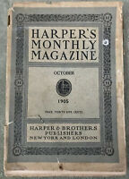 Harper's Monthly Magazine Oct 1905 Vtg