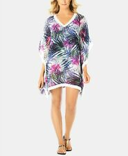 Swim Solutions Crochet-Trimmed Cover-Up, Multi-color Size M $68