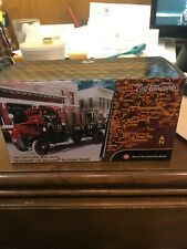 ERTL 1918 MACK AC BULLDOG TEXACO FLATBED TRUCK RED RARE MINT CONDITION