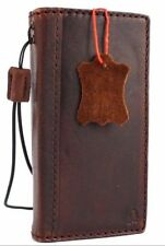 genuine vintage leather case for iphone SE 5 book wallet cover retro style 5s c
