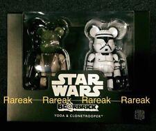 Medicom Be@rbrick Star Wars 100% Yoda Master & Clone Trooper Bearbrick boxset 2p