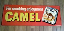 """Camel Cigarettes For Smoking Enjoyment New Old Stock Metal 11"""" X 32"""""""