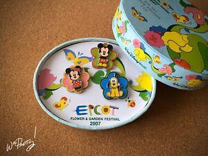 2007 Epcot Flower Garden Festival Limited Edition LE Cutie Pin Set Mickey Minnie