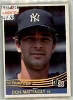 Don Mattingly New York Yankees 1984 Rookie Cards to 1999