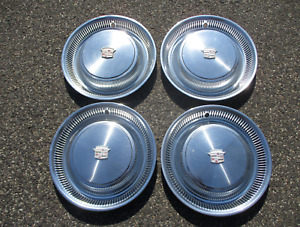 1974 to 1976 Cadillac Coupe Deville Sedan Fleetwood factory hubcaps wheel covers