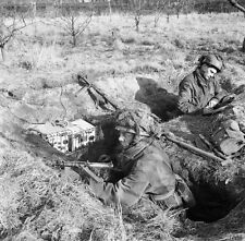WW2 Photo WWII British Paratroops in Holland February 1945 World War Two  / 1240