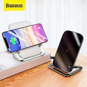 Baseus 15W Qi Fast Charging Wireless Charger Pad Stand Dock For Samsung iPhone