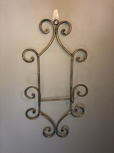 Iron Decorative Plate Wall Hangers Or Pictures Qty Of 2, Black And Gold