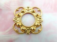BRASS Victorian Floral Frame Stamping Setting 10mm Finding (FA-6054 B)