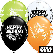 "10 pc - 11"" Star Wars Happy Birthday Balloon Bouquet Party Decoration Vader Yoda"