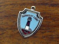 Vintage silver NEW JERSEY STATE BARNEGAT LIGHT HOUSE TRAVEL SHIELD charm #E2