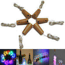 1M 2M 3M Cork Shaped LED Copper Wire String Light Wine Bottle For Xmas Decor