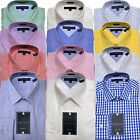 Tommy Hilfiger Mens Dress Shirt Regular Fit Spread Point Collar Classic New Nwt