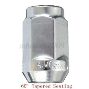 12x1.5 M12x1.5 Alloy Steel Wheel Lug Nut 60 Degree Tapered Seat Bolts 19mm Hex